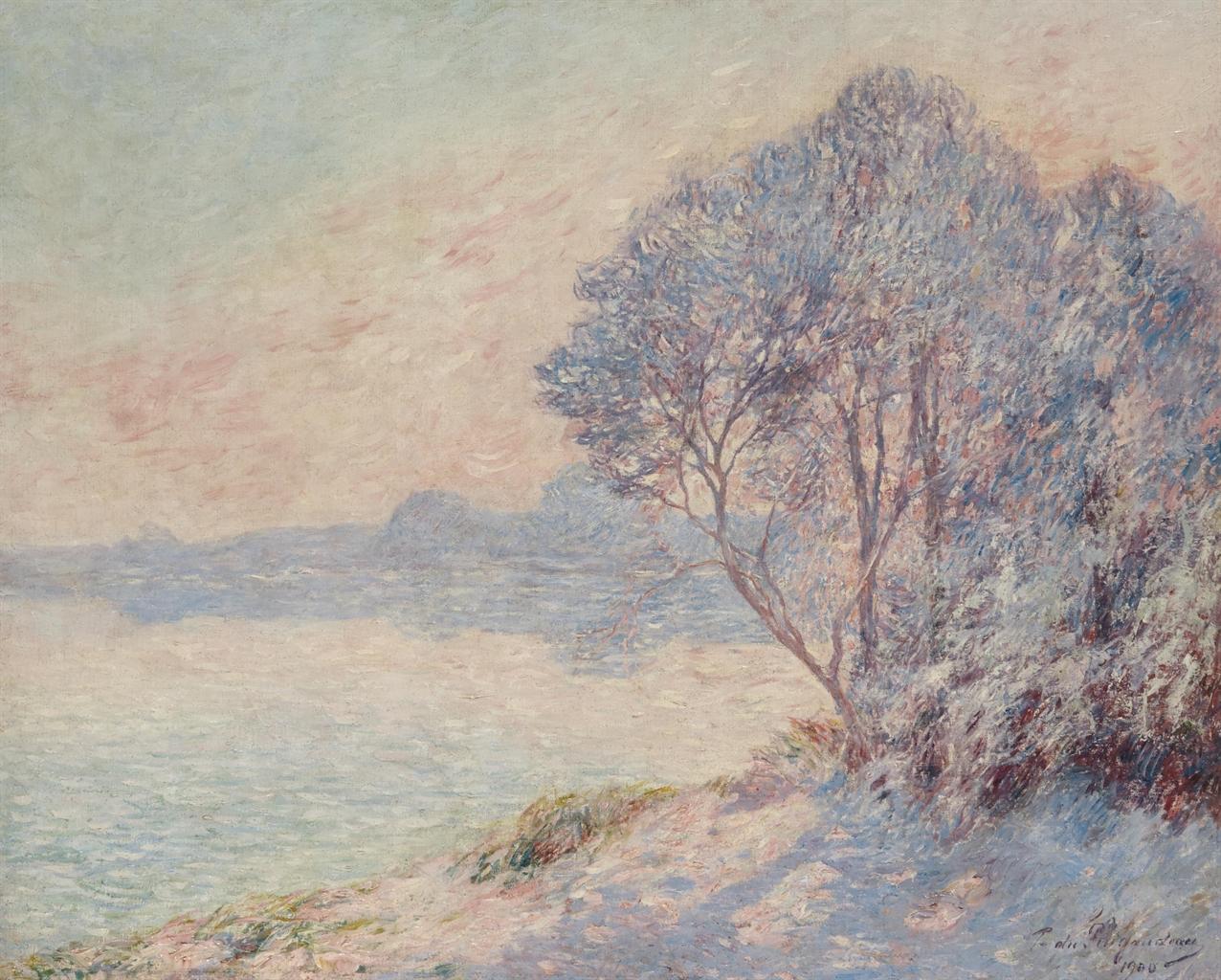 Ferdinand Du Puigaudeau-Paysage au bord de l'eau-1900