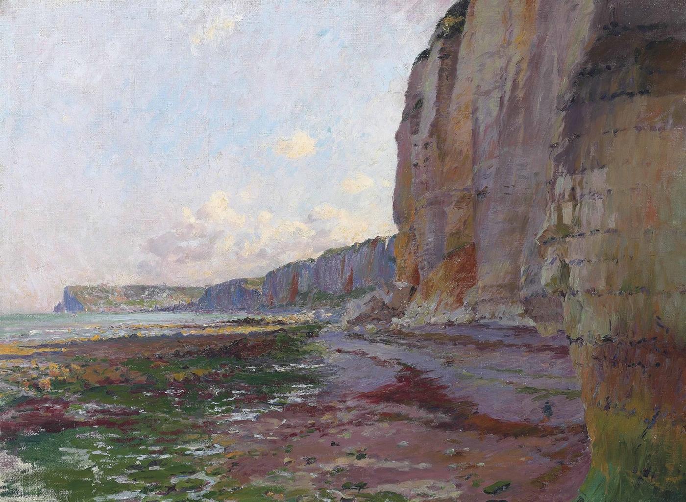 Emile Schuffenecker-Yport, falaises a maree basse-