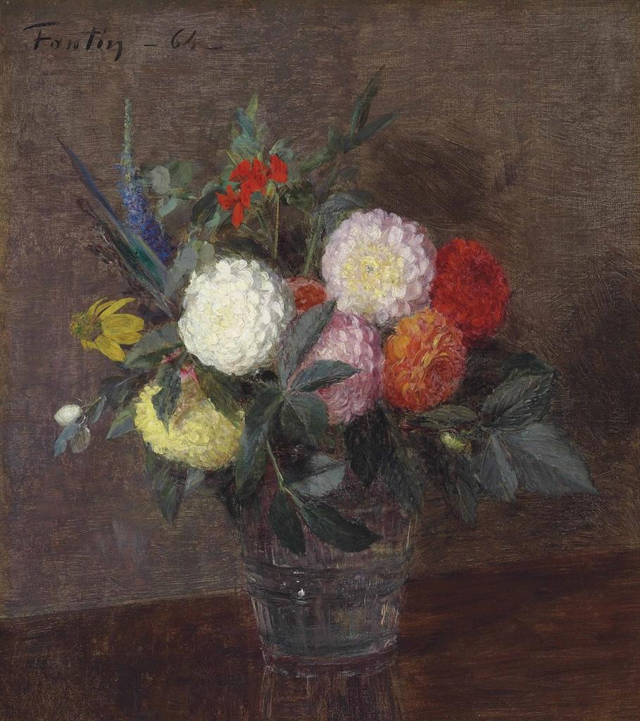 Henri Fantin-Latour-Fleurs d'automne-1864