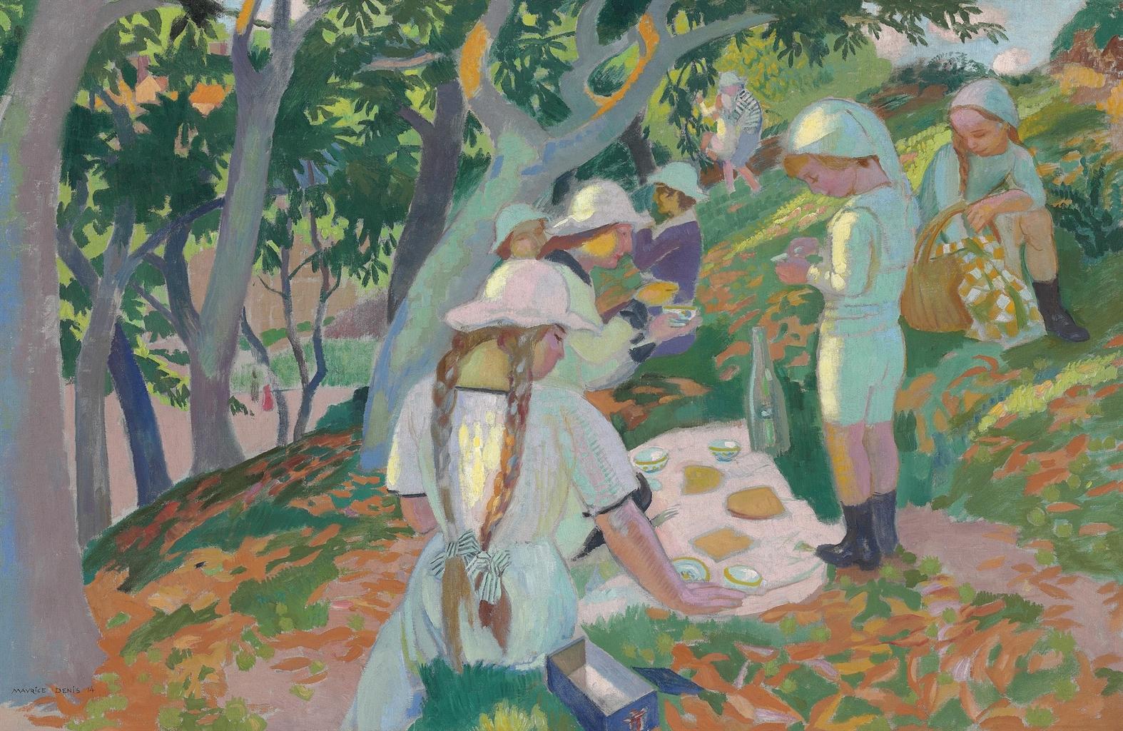 Maurice Denis-Le gouter sous les chataigniers-1914