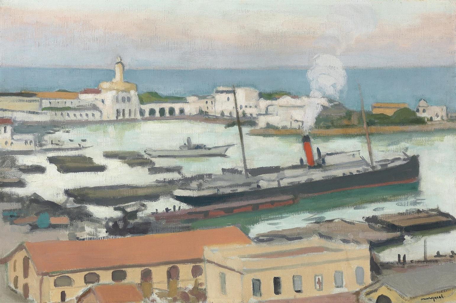 Albert Marquet-Cargo devant l'Amiraute-1921