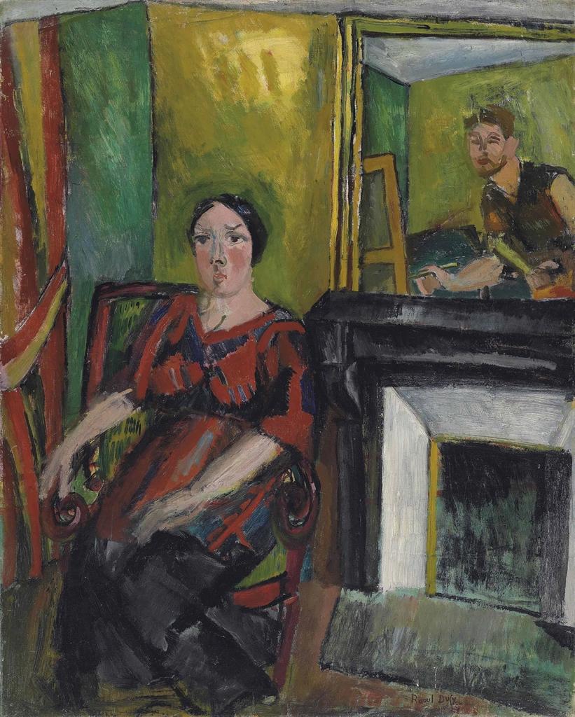 Raoul Dufy-Le peintre et son modele-1909
