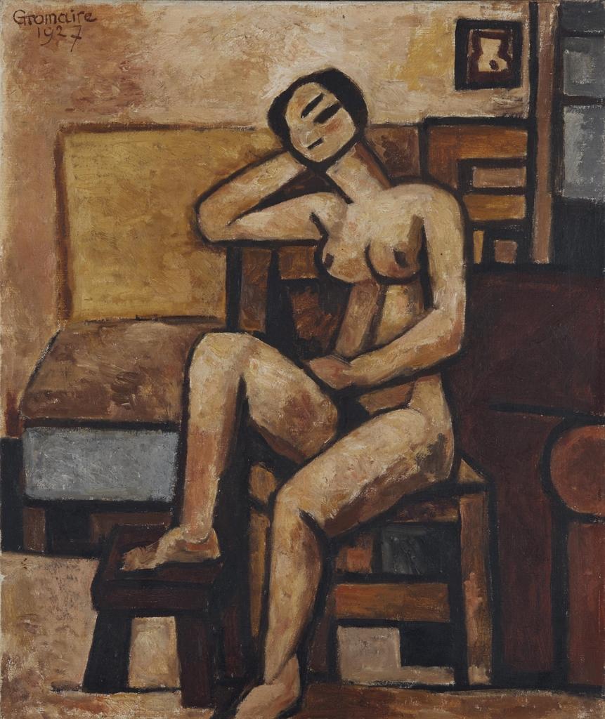 Marcel Gromaire-Nu a la chaise-1927
