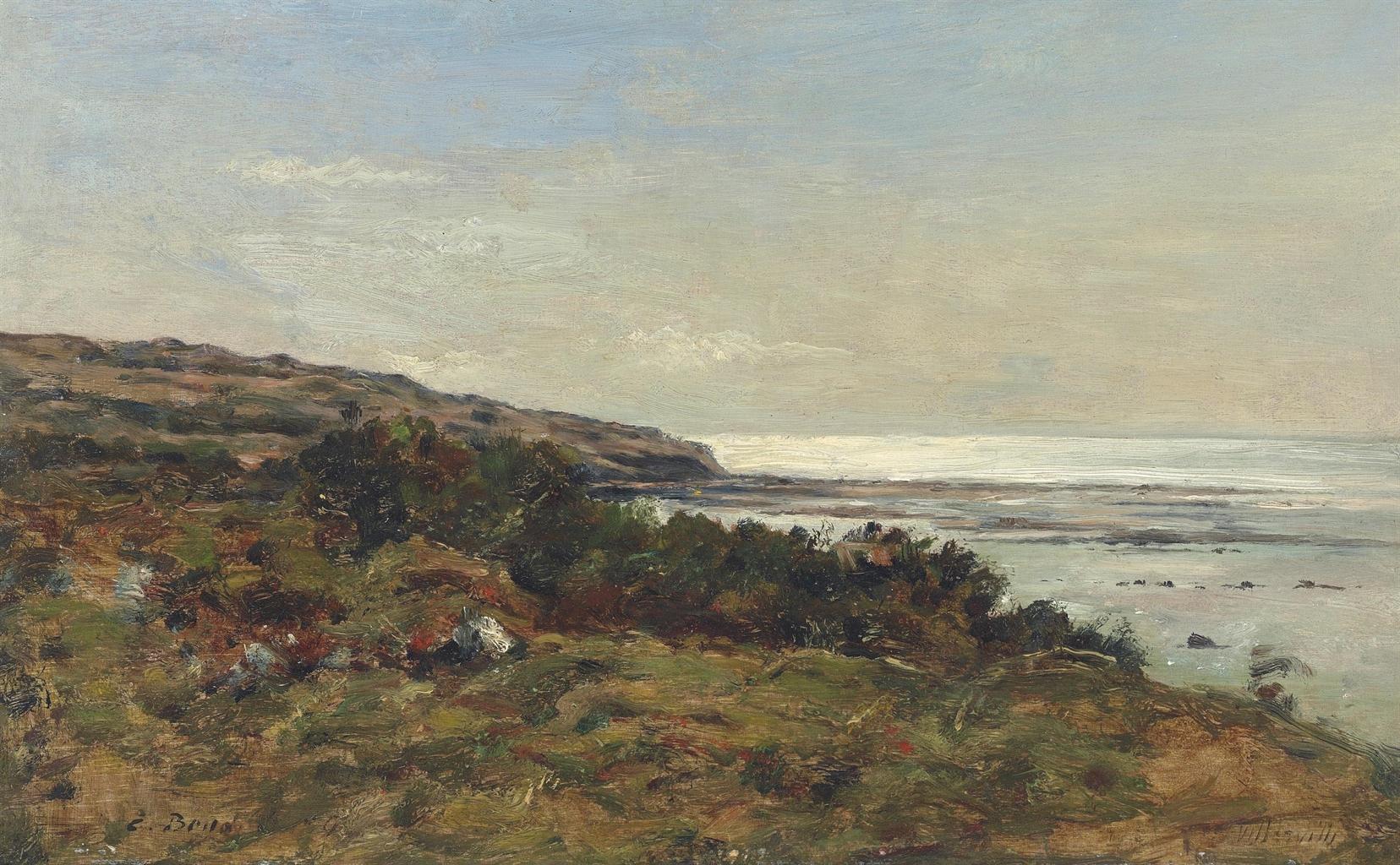 Eugene Louis Boudin-Villerville. Le rivage-1894