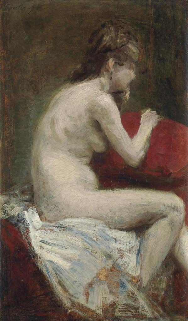 Henri Fantin-Latour-Etude de femme nue-1874