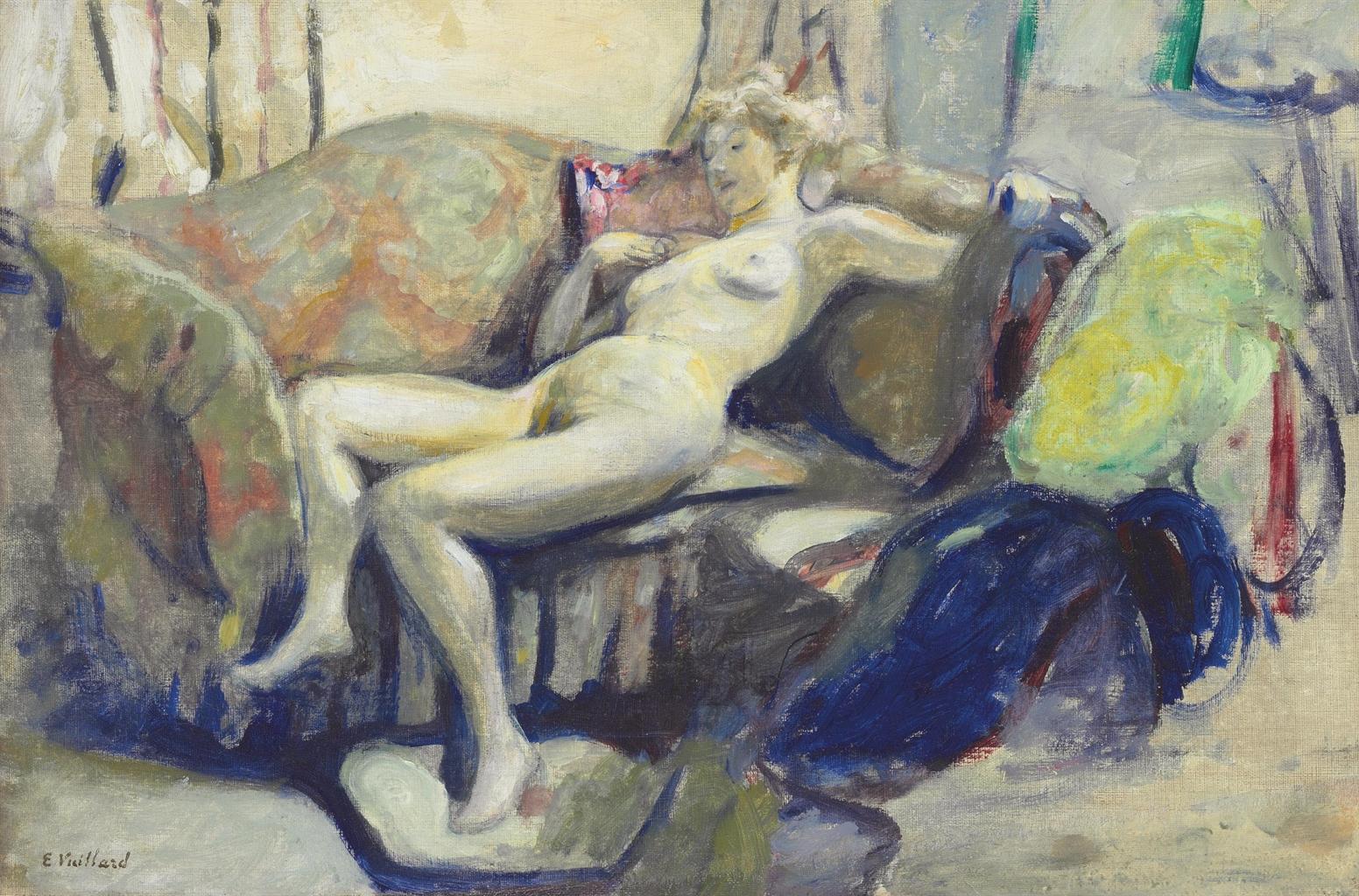Edouard Vuillard-Nu etendu sur un canape-1905