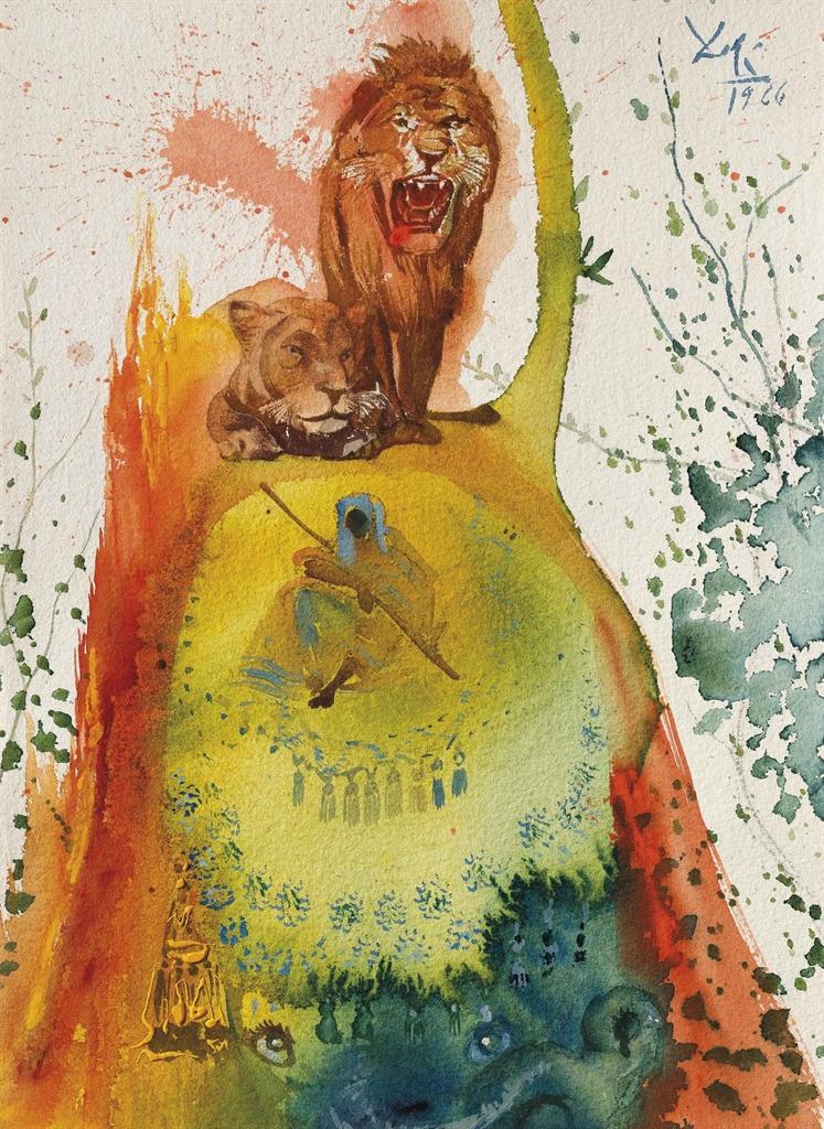 Salvador Dali-Leoni-1966