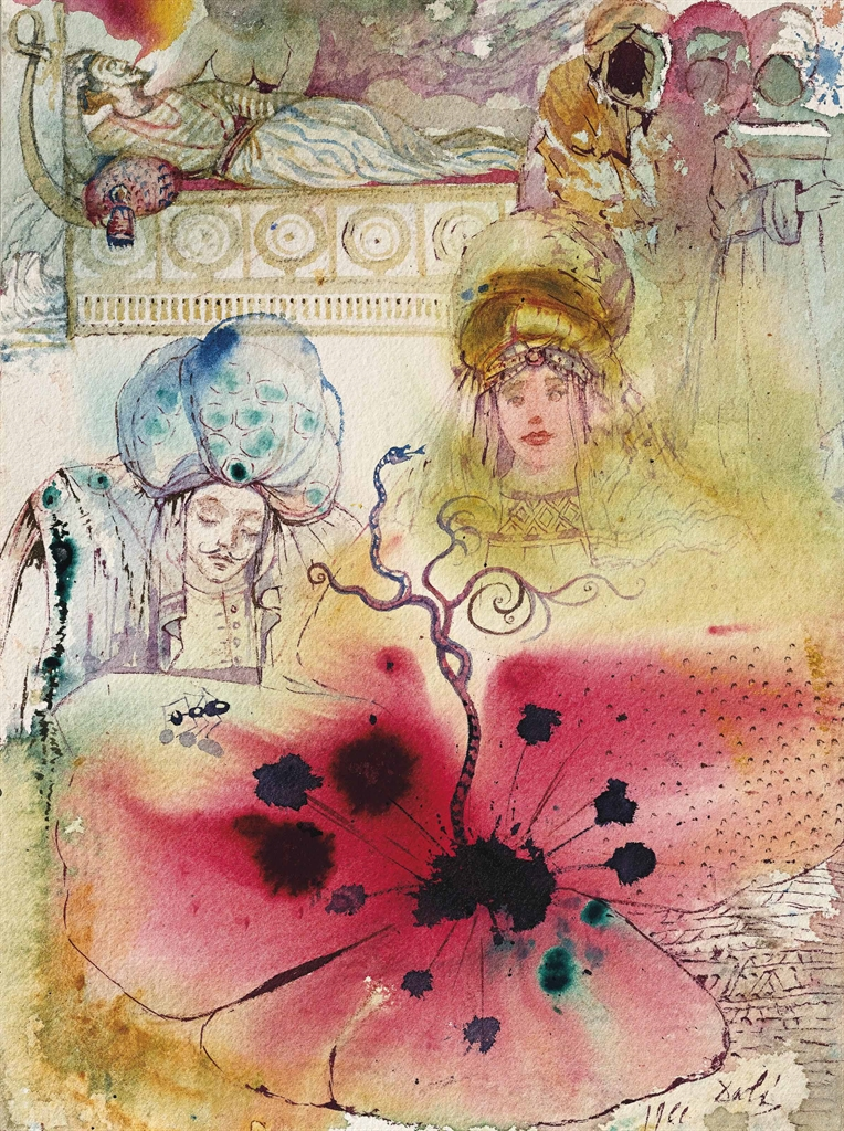 Salvador Dali-Fourmis et opium-1966