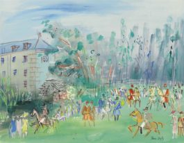 Jean Dufy-Chasse a courre a Preuilly-sur-Claise