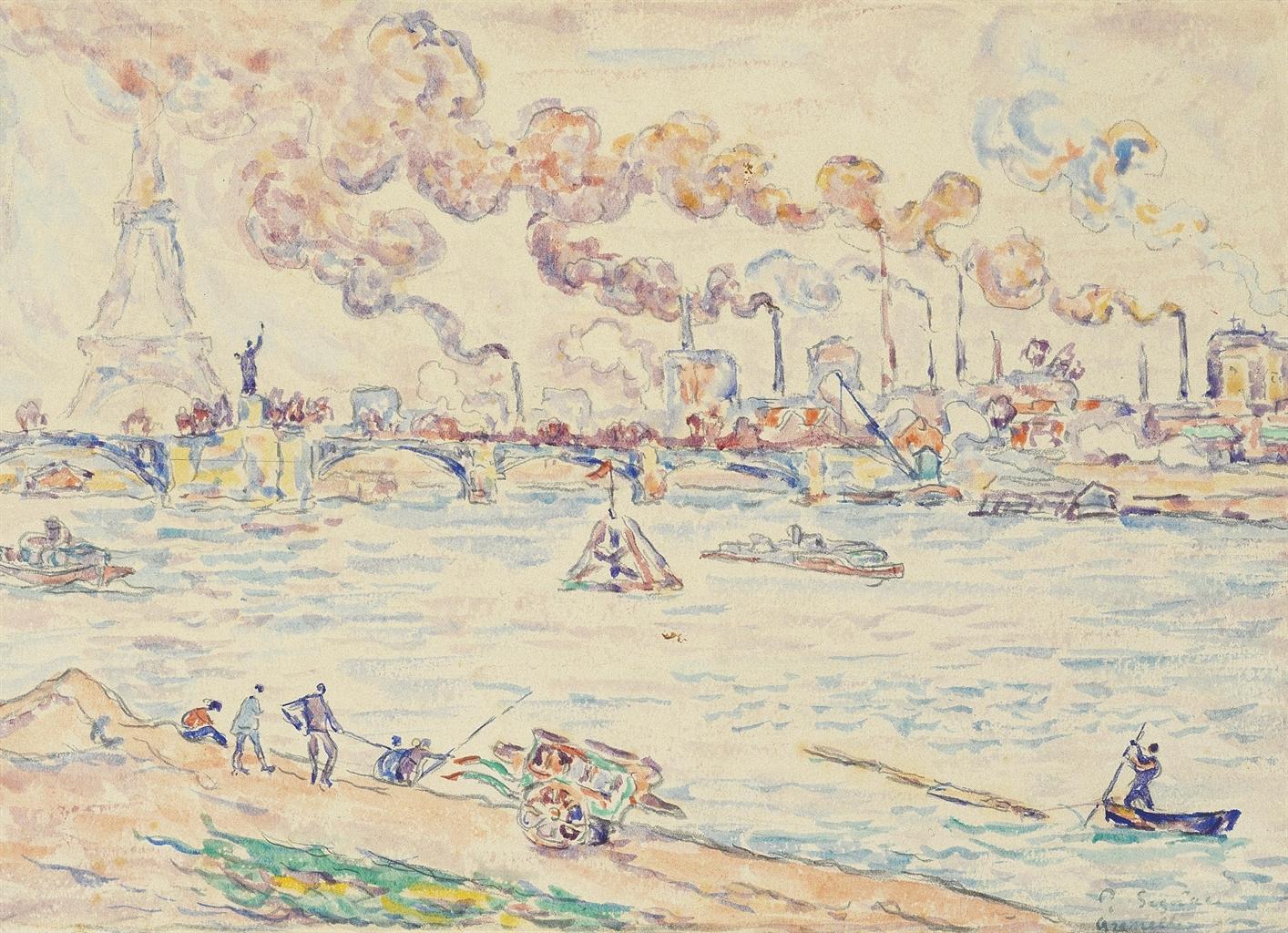 Paul Signac-La Seine au Pont de Grenelle-1899