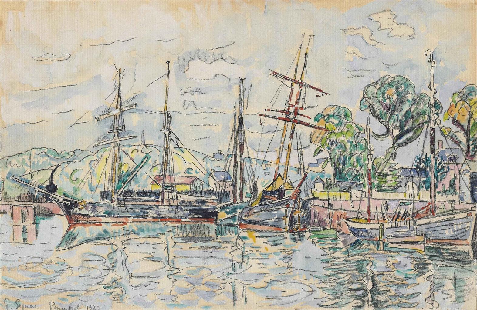 Paul Signac-Paimpol, Terre-Neuvas a quai-1927