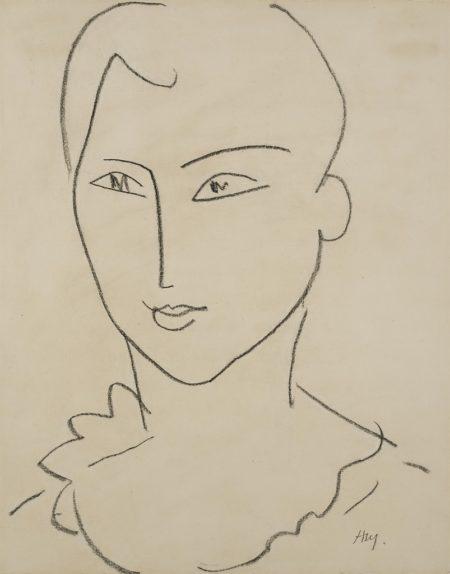 Henri Matisse-Jeune Anglaise-1952