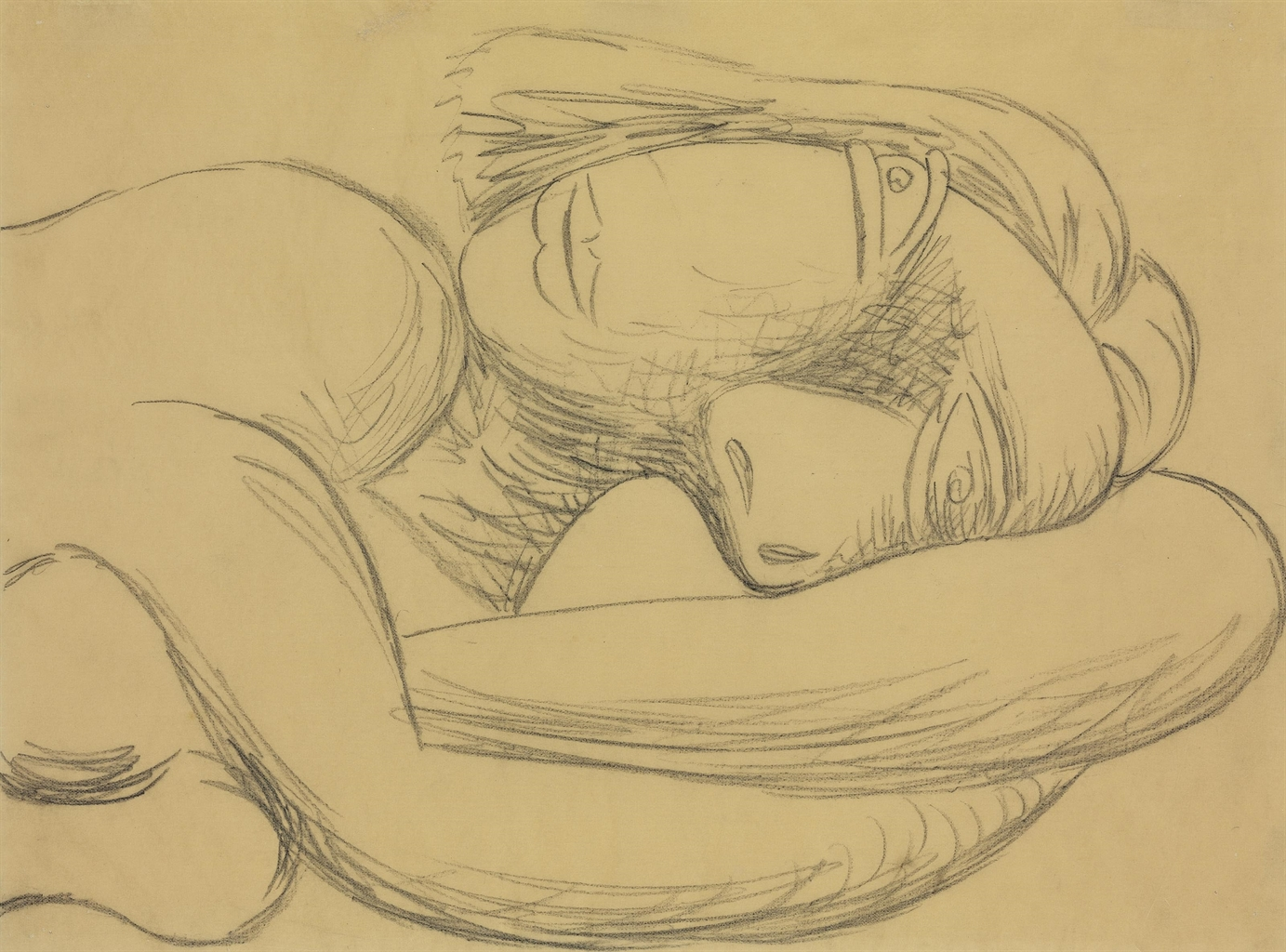 Pablo Picasso-Femme en buste (Marie-Therese)-1939