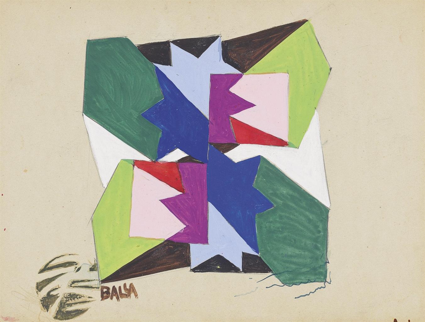 Giacomo Balla-Fiori + Spazio-1918
