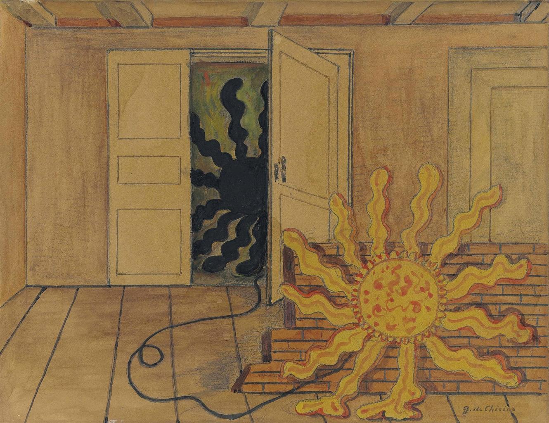 Giorgio de Chirico-Sole in una stanza-1968