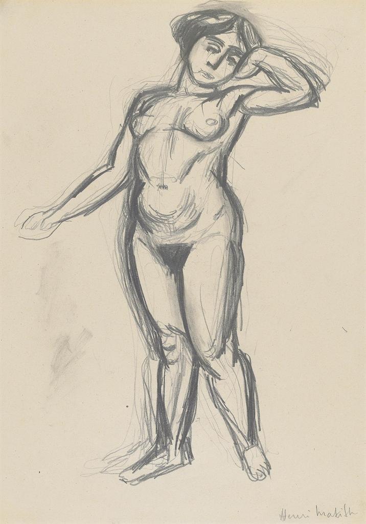 Henri Matisse-Nu debout-1909