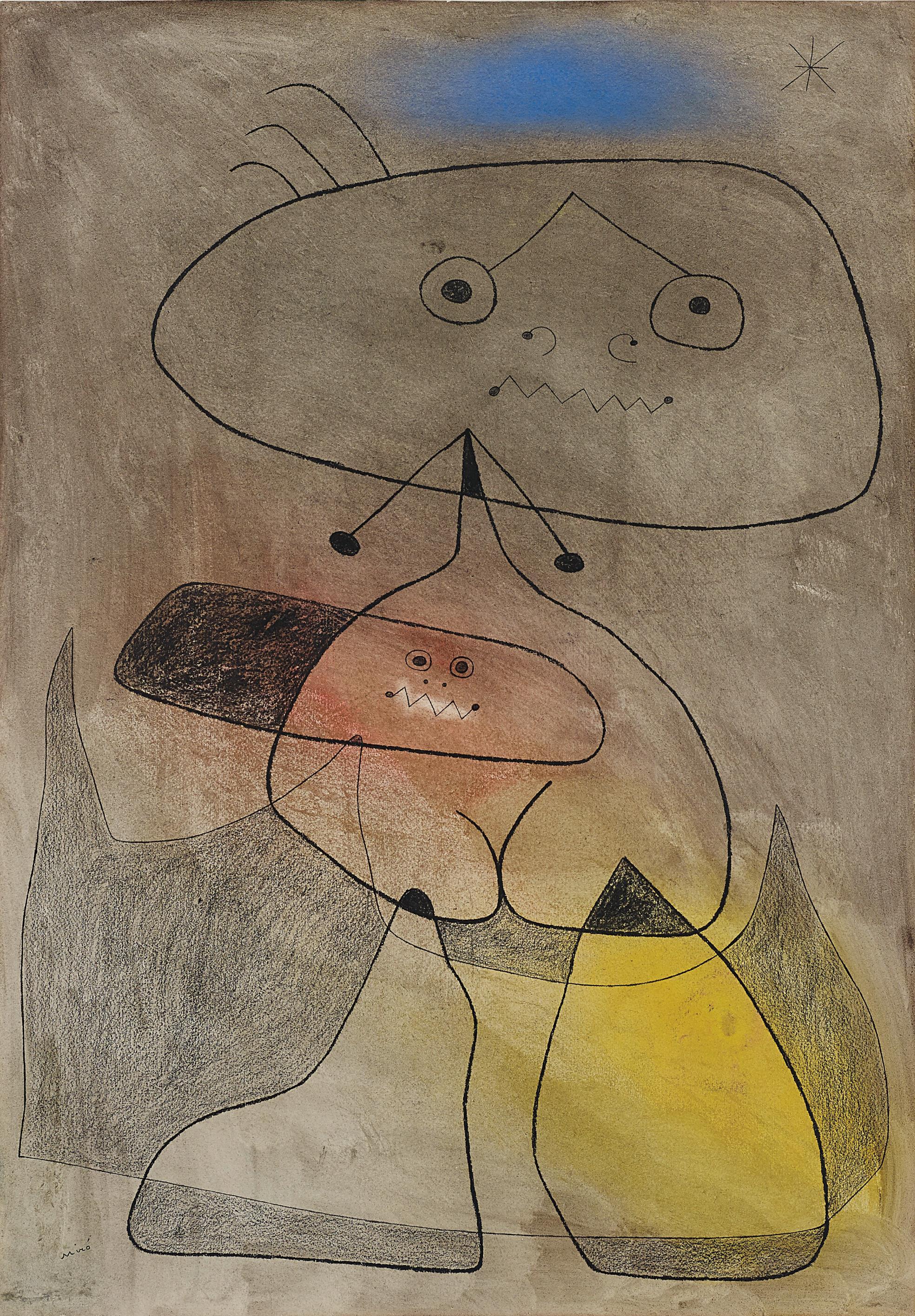 Joan Miro-Femme, Oiseau, Etoile-1943