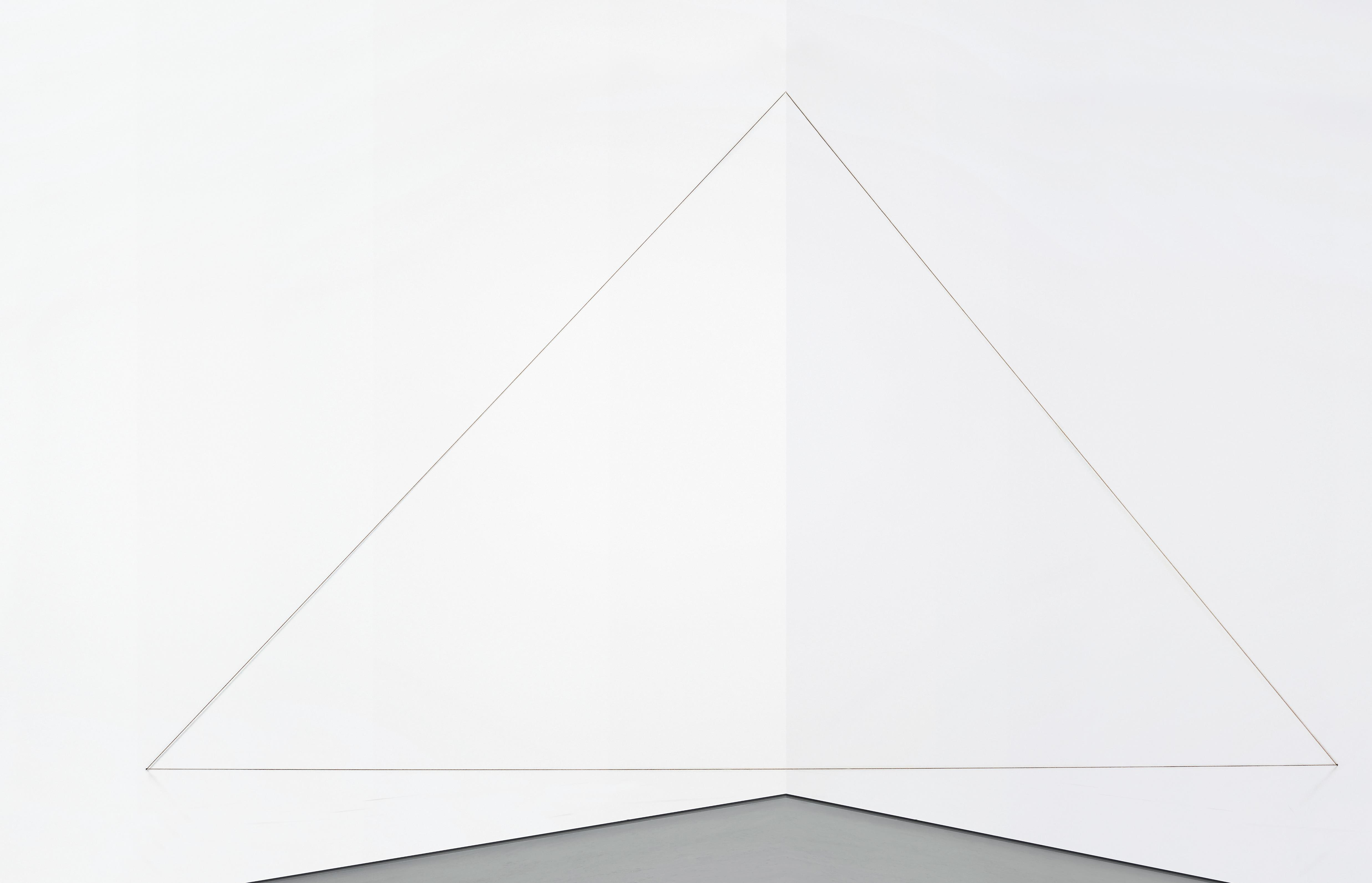 Fred Sandback-Untitled (Triangle)-1996
