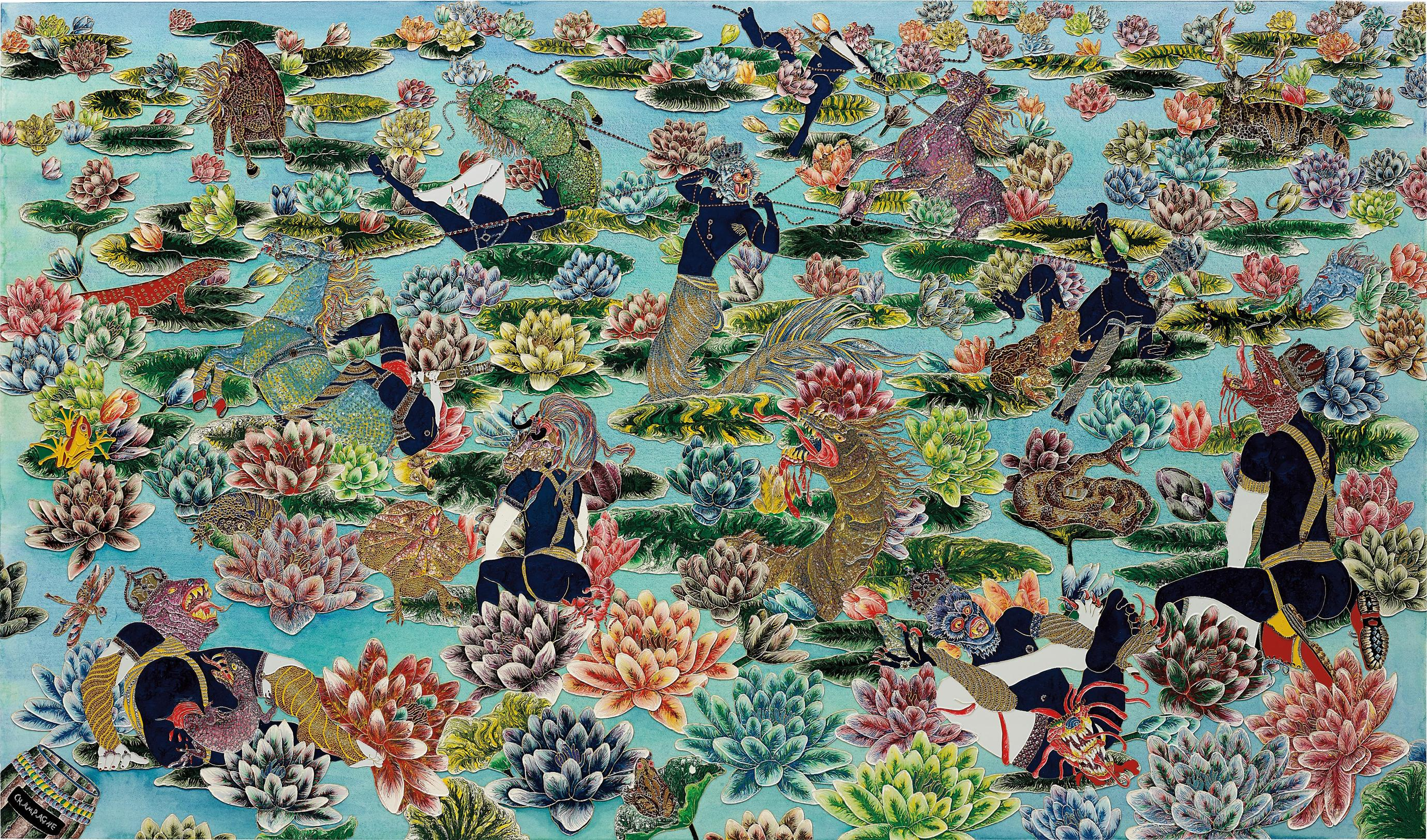 Raqib Shaw-The Mild-Eyed Melancholy Of The Lotus Eaters II-2009