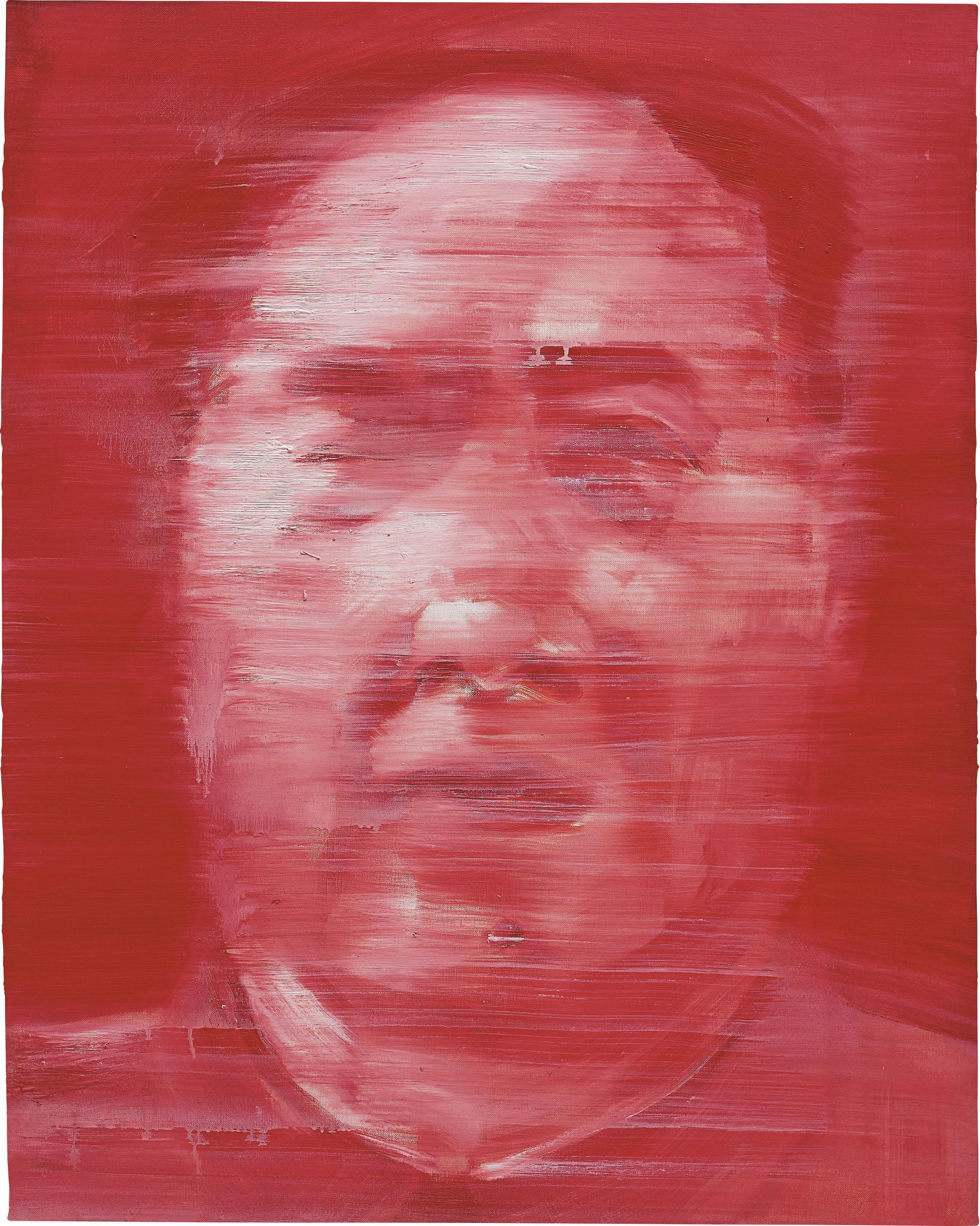 Yan Pei-Ming-Soleil Rouge III (Mao)-1993