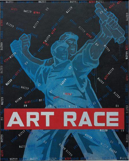 Wang Guangyi-Great Criticism: Art Race-2007