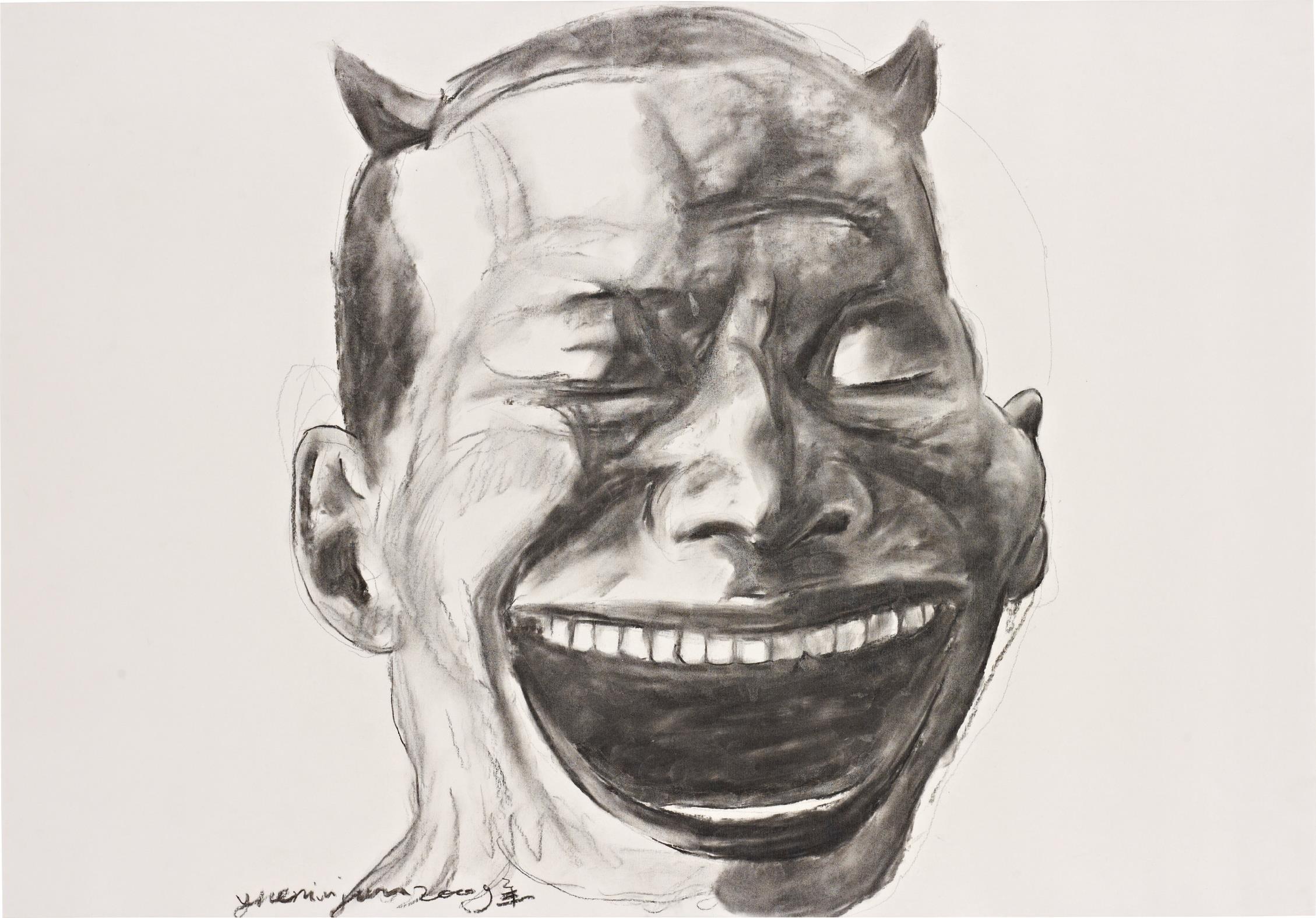 Yue Minjun-Untitled (Portrait)-2009