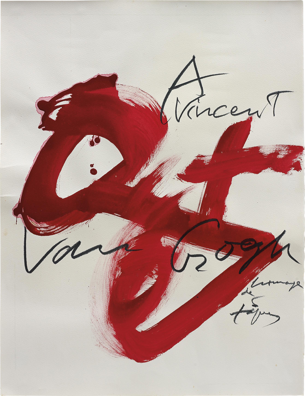 Antoni Tapies-A Vincent Van Gogh-1990