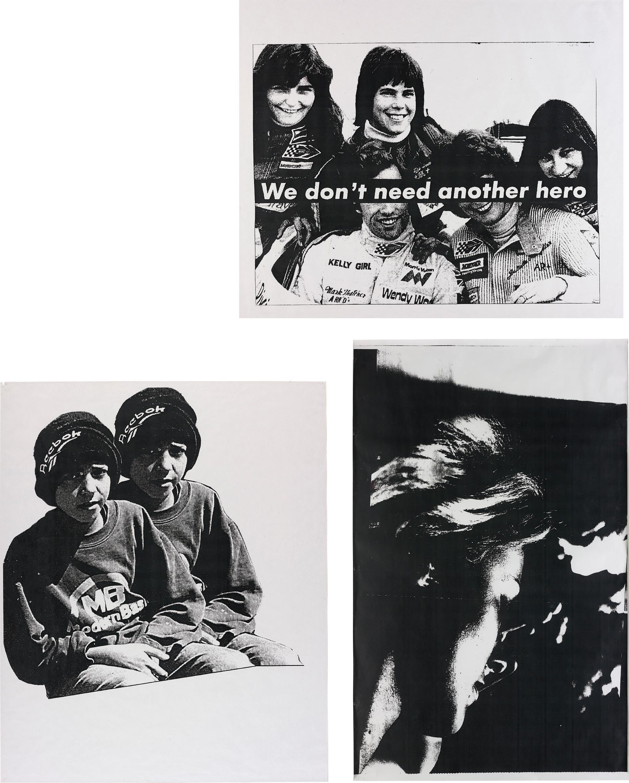 Nate Lowman-Three Works: (I) Sharon Stone; (II) We Don'T Need Another Hero; (III) Twin Boy Suicide Bomb-2004