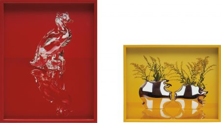 Elad Lassry-Two Works: (I) Cat And Duck (Red); (II) Sterling Silver Vases-2011