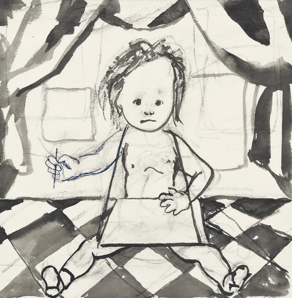 Tsuguharu Foujita-Le petit ecrivain-