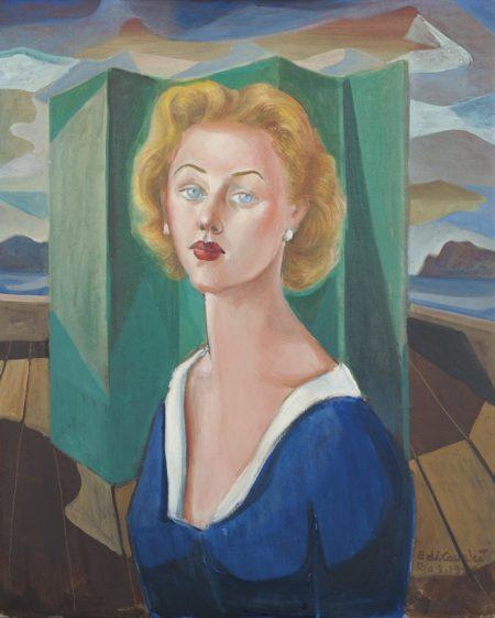 Emiliano di Cavalcanti-Portrait of Louise Latham-1950