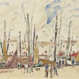 Georges d'Espagnat-Scene de port