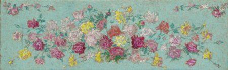 Achille Lauge-Esquisse de fleurs pour les Gobelins-