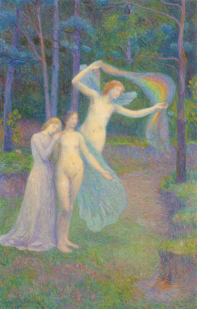 Hippolyte Petitjean-La source, femmes dans la foret-1897