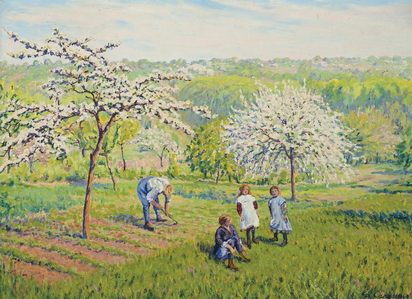 Gustave Cariot-Le printemps-1919