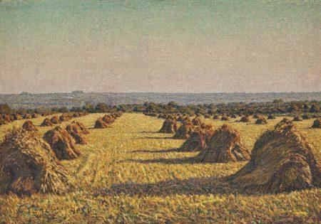 Gustave Cariot-Paysage de moisson-1905