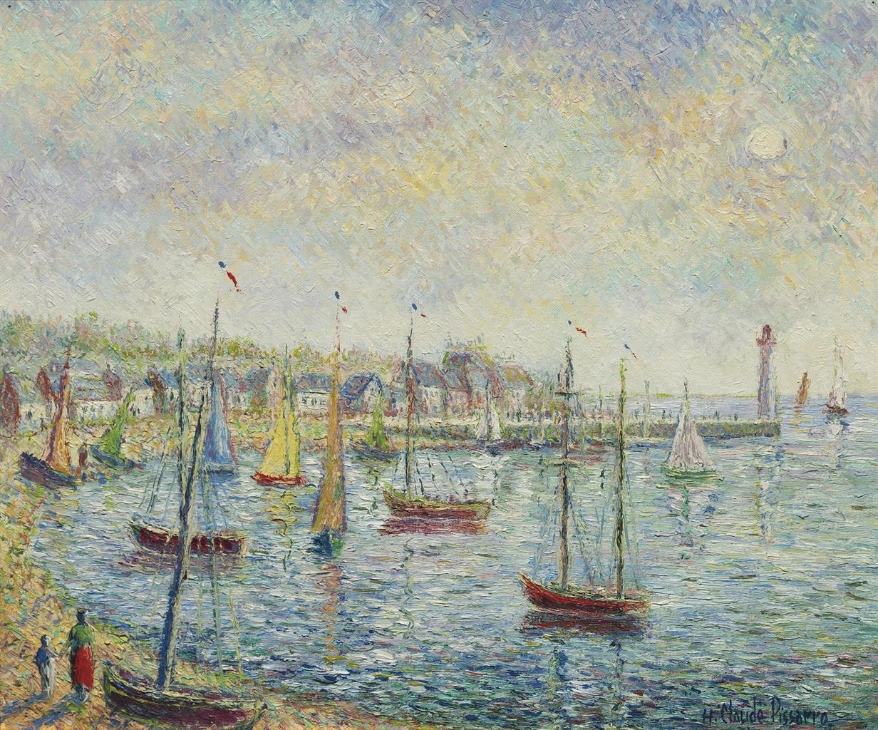 Hugues Claude Pissarro-La rade de Saint-Ursin-
