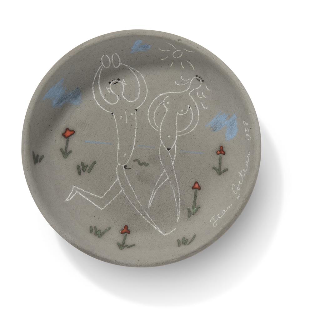 Jean Cocteau-Couple aux cymbales (A.G. 220)-1958