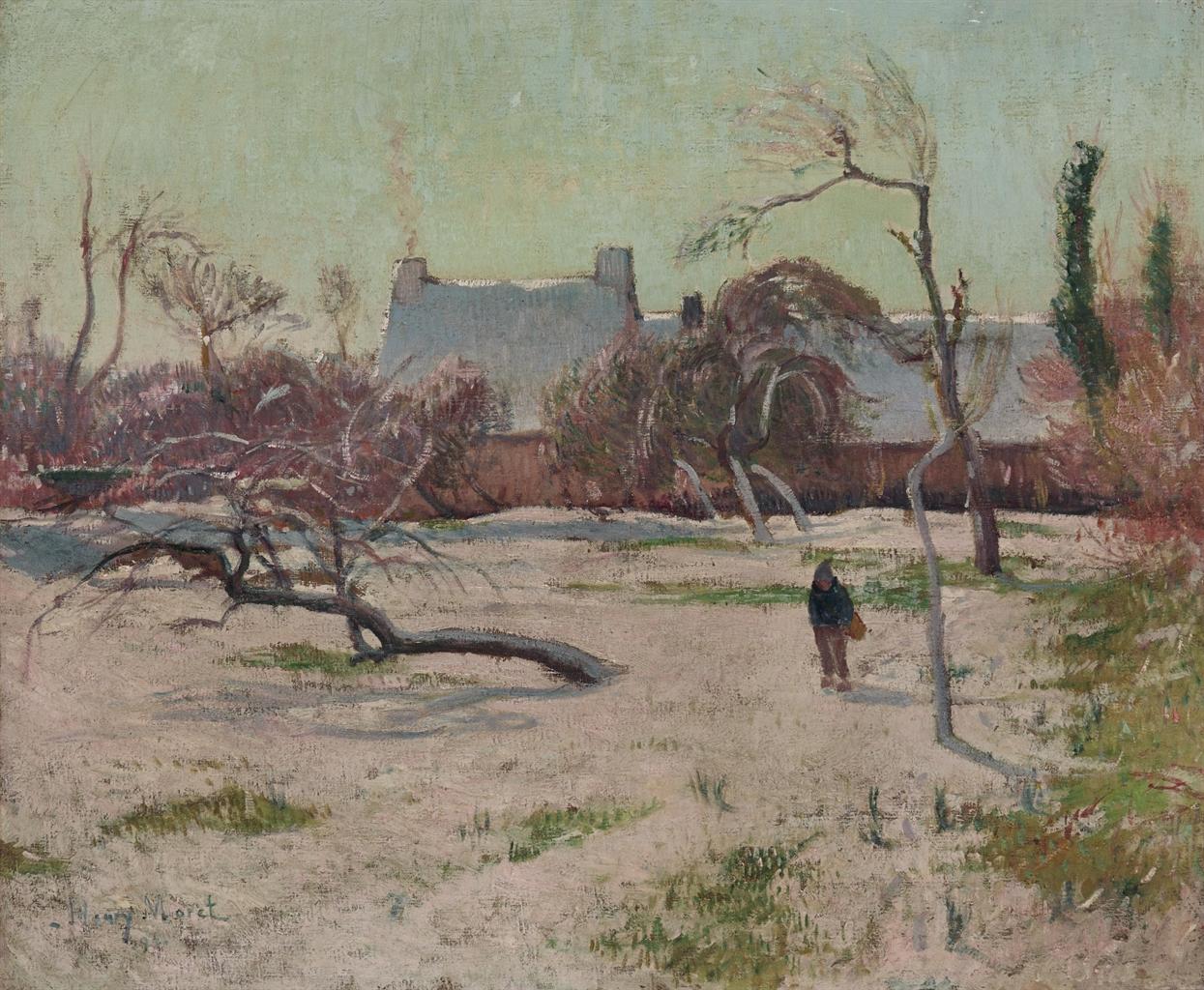 Henry Moret-Paysage de neige-1897