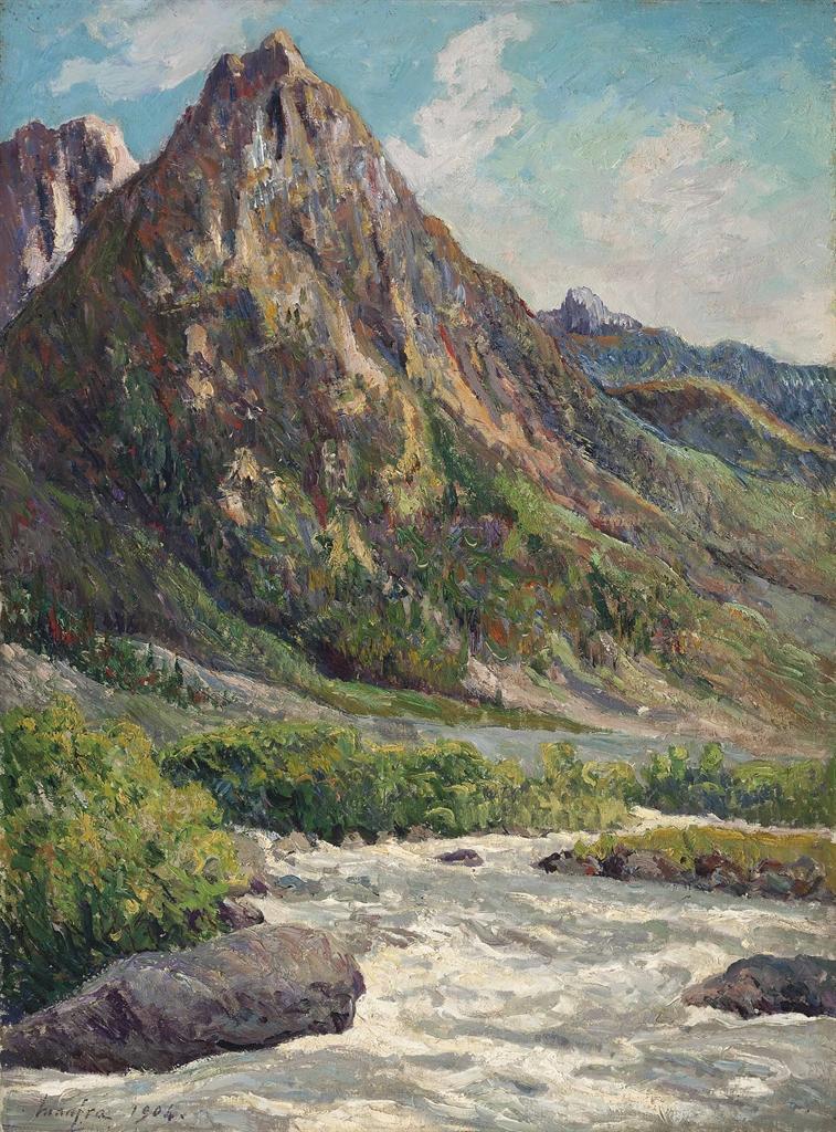 Maxime Maufra-Le torrent dans la vallee de la Romanche en Isere-1904
