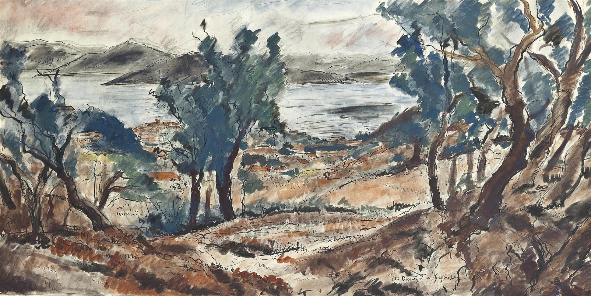Andre Dunoyer de Segonzac-St. Tropez vu de Ste. Anne-1935