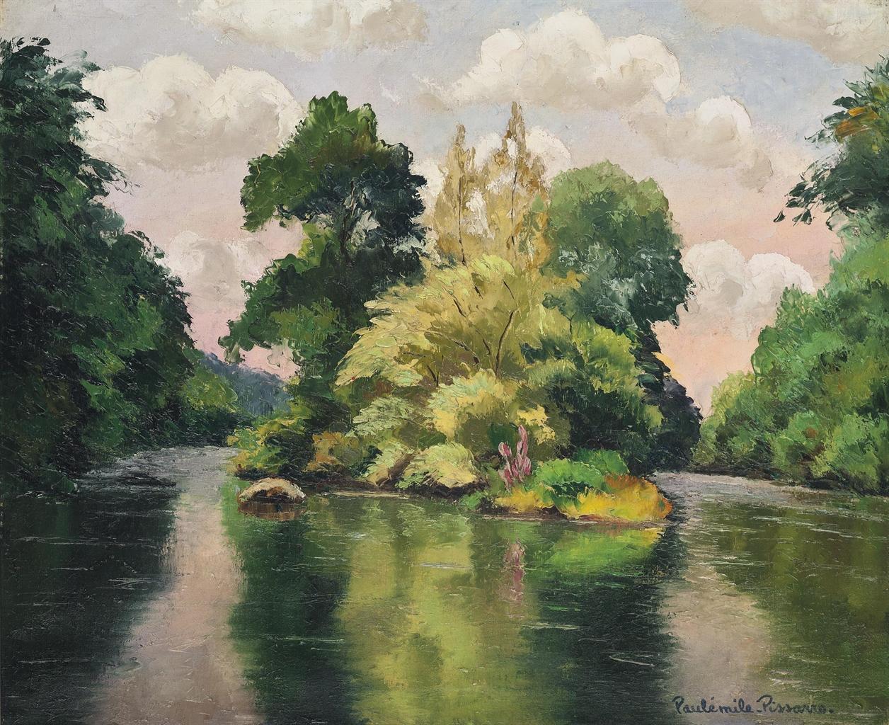 Paul-Emile Pissarro-L'ile des anneaux-
