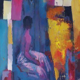 Nicola Simbari-Nudo seduto-1979