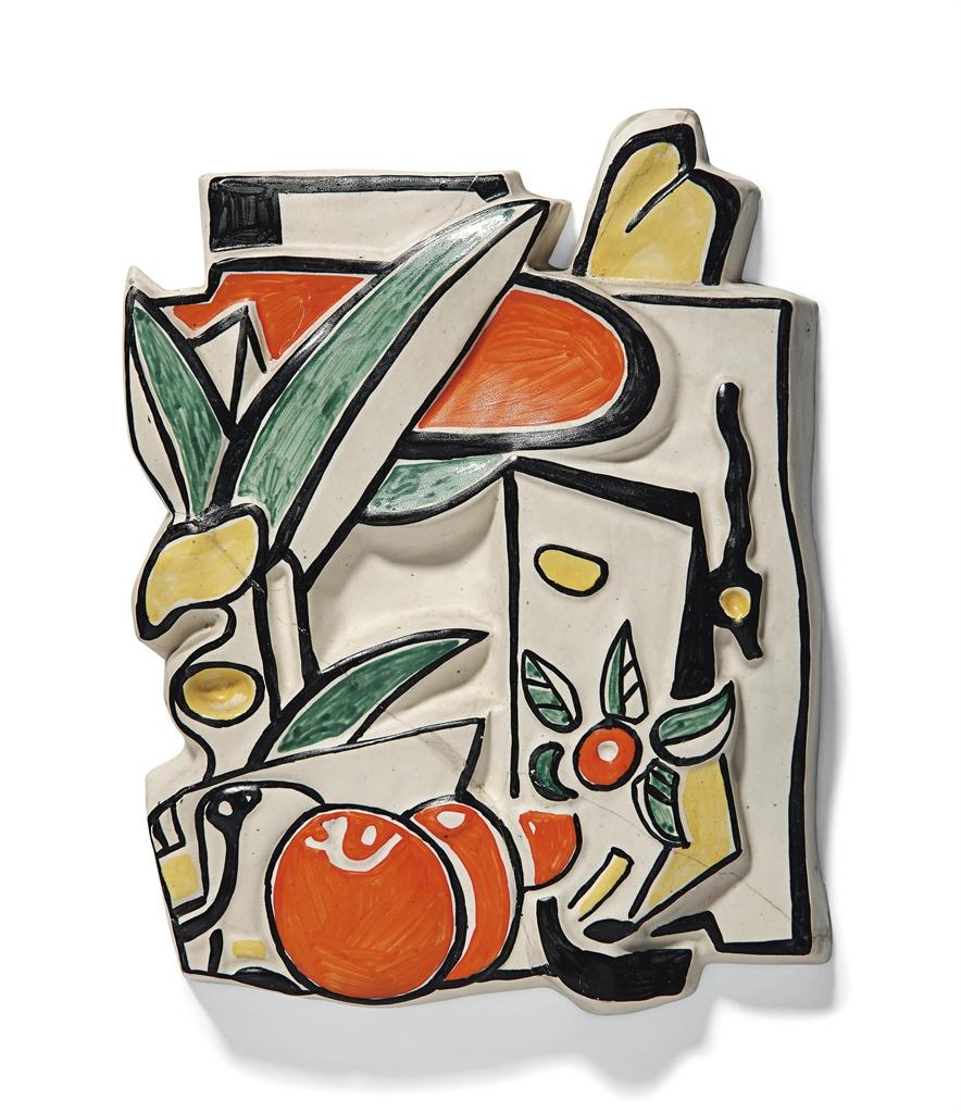 Fernand Leger-After Fernand Leger - Composition aux fruits en trois couleurs-