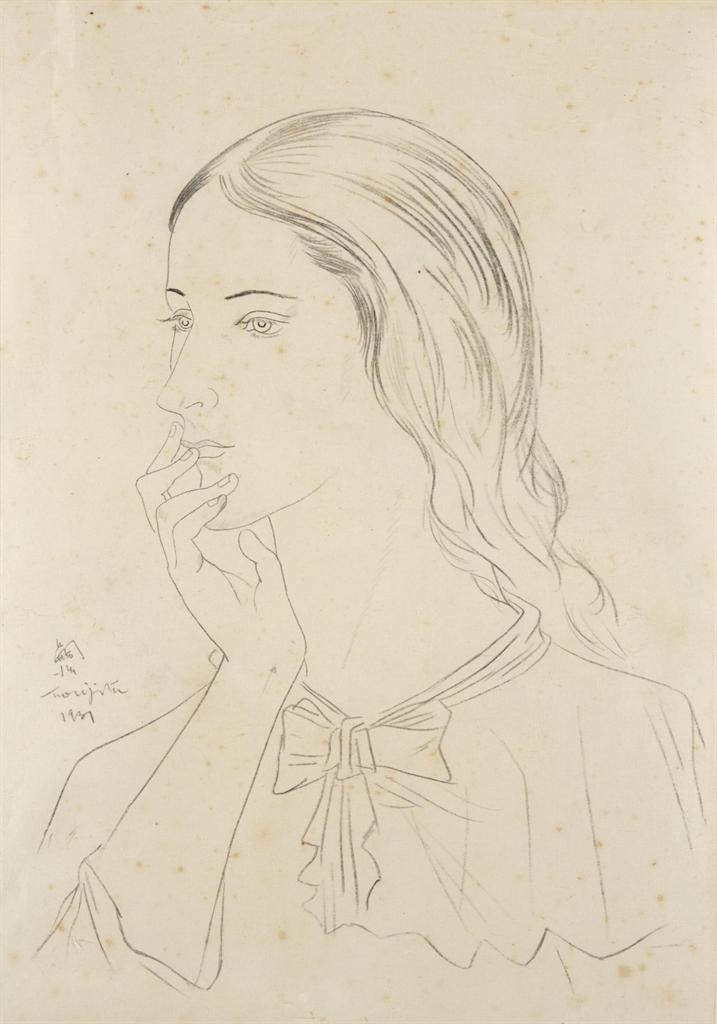 Tsuguharu Foujita-Jeune fille de profil-1931
