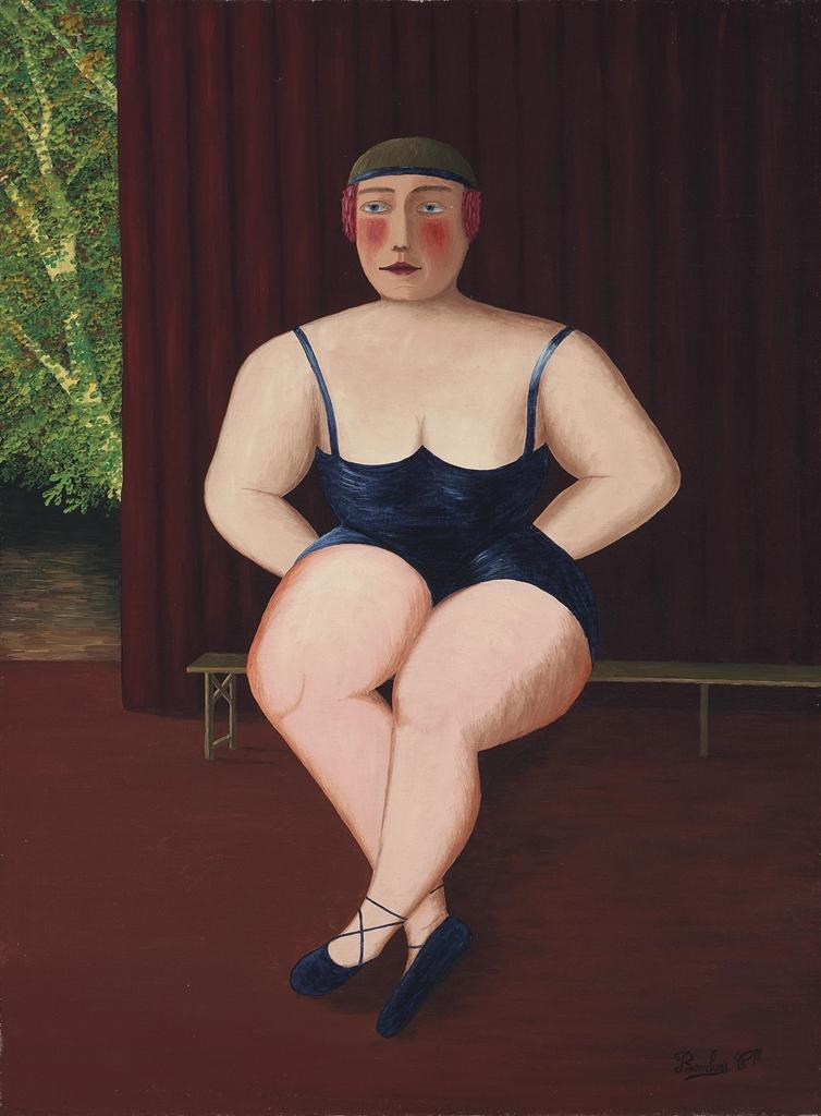 Camille Bombois-En attendant son numero d'athlete-1925