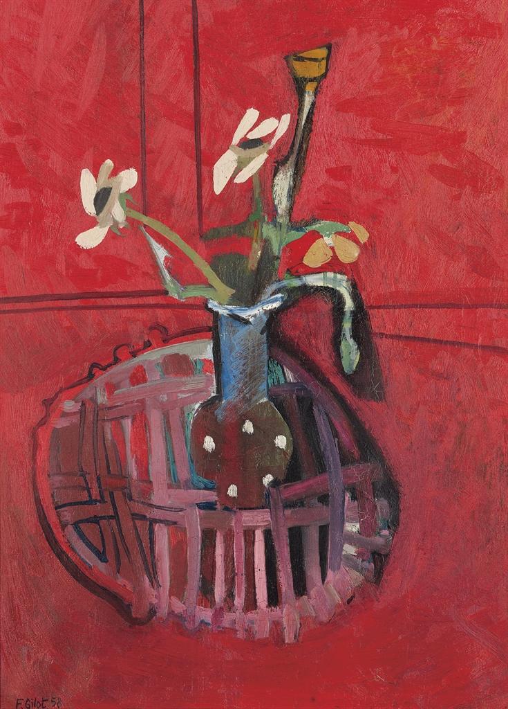 Francoise Gilot-Vase au pois et bourgeon de pavot-1958