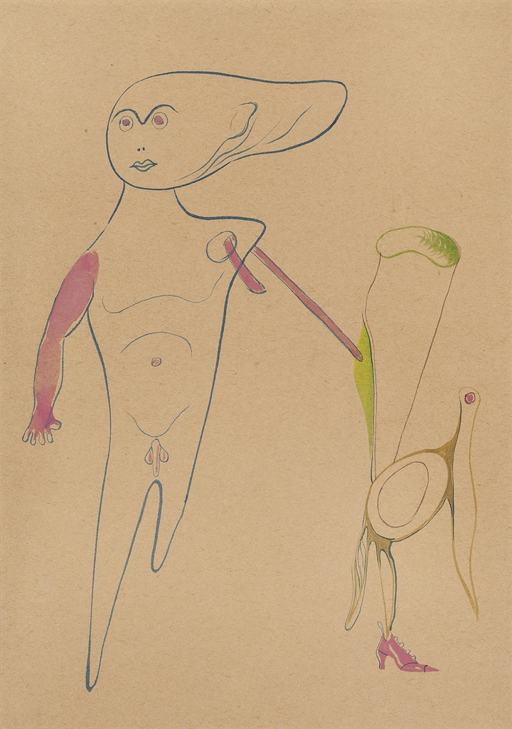 Victor Brauner-Composition surrealiste-1930