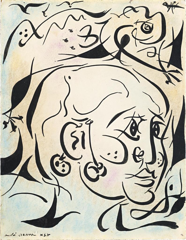 Andre Masson-L'enfant au cameleon (Portrait de Luis)-1945