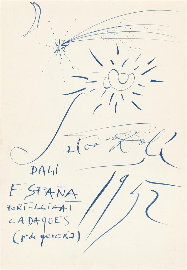 Salvador Dali-Lune, etoile filante, Yin et Yang-1952